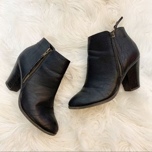 Charlotte Russe Black Heeled Booties Size 6